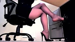 aunty, boots, cheating, compilation, foot fetish, lingerie, masturbation, nylon, office, panties, pantyhose, secretary, teasing