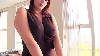 blowjob, cheating, cute, pussy, redhead, secretary, striptease