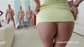 anal, ass to mouth, babe, balls, big dick, big tits, cock, cum, double penetration, fuck, gangbang, mouth, swallow