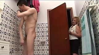 amateur, anal, granny, hardcore, italian, mature, milf, mom, naughty, sex, shower, stepson