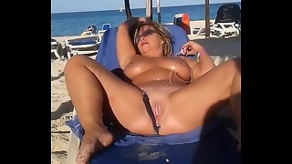 beach, masturbation, plug, public, slut, sperm, wife