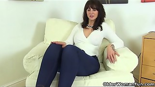 cougar, cunt, fingering, granny, jeans, mature, milf, mom, wet