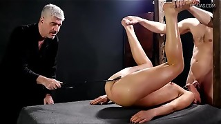 bdsm, blowjob, bondage, deepthroat, punishment, skirt