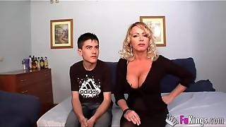amateur, big dick, big tits, blonde, blowjob, cum, cumshot, doggystyle, european, milf, party, sauna, spanish, tied