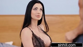 big tits, black, brunette, doggystyle, european, fake, fuck, hardcore, hd videos, heels, hungarian, licking, lingerie, massive, pussy, sex, tied