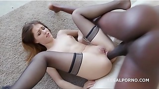 anal, balls, black, cum, cumshot, facial, gaping, hardcore, interracial, redhead, rough sex, sex, sexy, slut, swallow