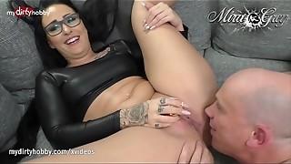 amateur, anal, ass to mouth, blowjob, brunette, cum, curvy, dirty, german, heels, latex, mouth, tattoo, wet