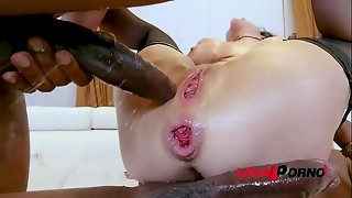 american, anal, asshole, big tits, black, brunette, double penetration, fuck, gaping, milf, plug, prolapse, pussy