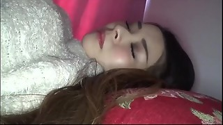 hidden cams, model, sleeping