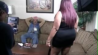 behind the scenes, big ass, big tits, cock, ebony, redhead