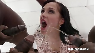 anal, asshole, black, brunette, czech, double penetration, fuck, gaping, lovers, pissing, public, squirting, tight, work