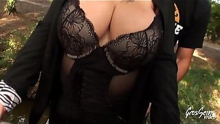 amateur, anal, big tits, blonde, chubby, french, husband, lingerie, outdoor, public, sex