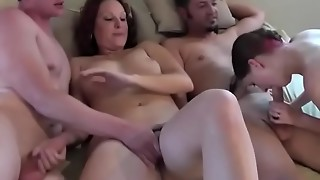 amateur, blowjob, chubby, couple, foursome, group sex, heels, homemade, husband, orgy, swingers