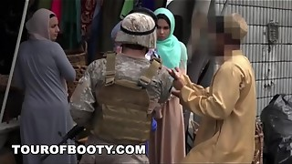 arab, booty, hijab, pussy, skinny, taboo, uniform