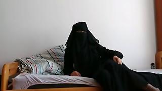 brunette, hardcore, hijab