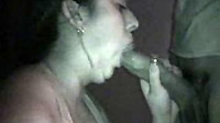 amateur, blowjob, couple, cum, cumshot, ebony, facial, gloryhole, hardcore