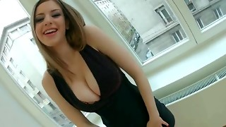big tits, blowjob, british, brunette, natural