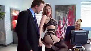 big tits, cheating, hardcore, massive, secretary, stockings