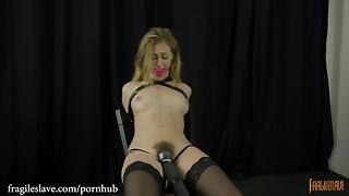 balls, bdsm, blonde, bondage, chair, female choice, femdom, fetish, gagging, hardcore, kinky, leather, orgasm, pornstar, slave, step fantasy, stockings, tied, topless, toys, train