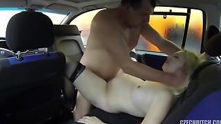 big tits, blonde, car, creampie, cum, czech, fuck, handjob, pregnant, prostitute, reality, slut, stockings, taxi