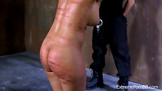 bdsm, brunette, female choice, fetish, kinky, public, spanking