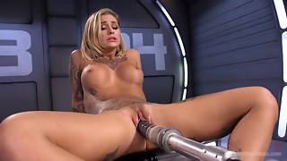 babe, big tits, blonde, female choice, fuck, hardcore, machine, masturbation, pornstar, rough sex, shaved, solo, striptease, tattoo, teasing, toys, trimmed