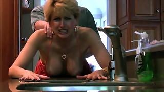 big tits, blonde, cougar, doggystyle, facial