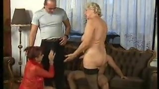 fishnet, granny, group sex, mature, orgy, sex