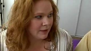 bbw, big tits, blowjob, chubby, fuck, hardcore, husband, milf, plumber, redhead