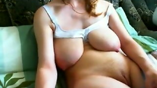 babe, big tits, female choice, fingering, hardcore, masturbation, milk, saggy tits