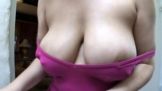 amateur, big tits, downblouse, nipples, voyeur