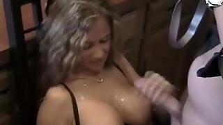 amateur, blowjob, cum, cumshot, handjob, hottie, wife