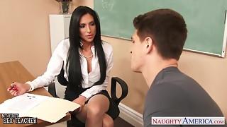 aunty, big tits, blowjob, brunette, classroom, fake, fuck, hardcore, hd videos, heels, panties, pantyhose, pornstar, sex, teacher