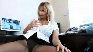 cheating, mature, milf, secretary, skirt, upskirt