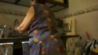 amateur, fast, granny, kitchen