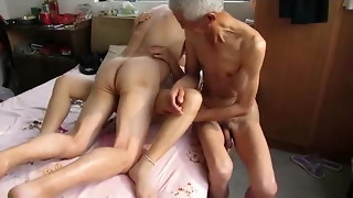 amateur, asian, grandpa, granny, mature, threesome