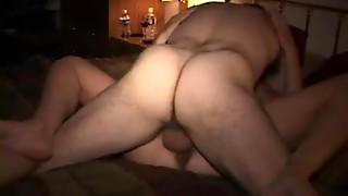 amateur, bedroom, closeup, creampie, cuckold, friend, hairy, wife