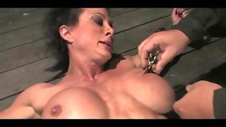 bdsm, big tits, bondage, hardcore, milf, orgasm, sex, tied, toys