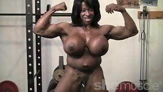babe, big tits, black, ebony, muscle, softcore
