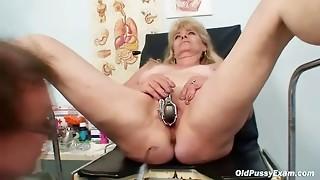 blonde, doctor, enema, fetish, granny, kinky, mature, milf, pussy, uniform