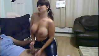 amateur, big tits, blowjob, brunette, cum, cumshot, handjob, horny, office, police, uniform