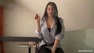 babe, big tits, black, brunette, fetish, hardcore, pornstar, smoking