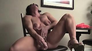 babe, big tits, brunette, dildo, lingerie, masturbation, toys