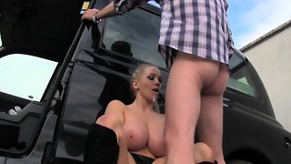amateur, babe, big tits, blonde, blowjob, car, cum, cumshot, doggystyle, facial, fake, hardcore, public, reality, swallow, taxi