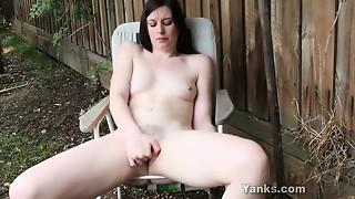 amateur, babe, brunette, masturbation, solo