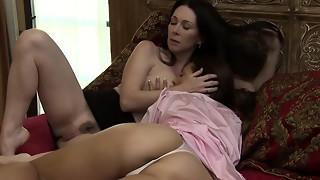 big tits, brunette, lesbian, milf, orgasm, scissoring