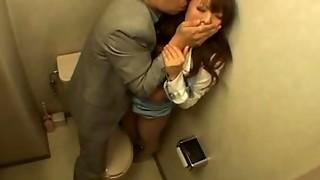 asian, bathroom, big tits, blowjob, fuck, granny, hardcore, japanese, tan
