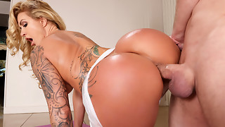 anal, big ass, big tits, blonde, brazzers, doggystyle, hardcore, hd videos, lingerie, milf, tattoo, yoga