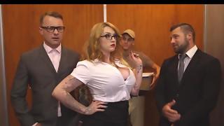 blowjob, cheating, pussy, secretary, slut, threesome, wet
